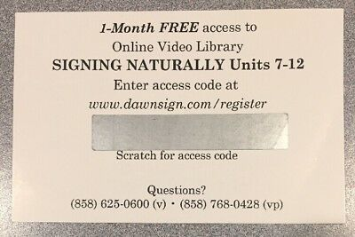 1 Month Access Code - Signing Naturally : Student Workbook, Units 7-12