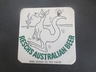 1 only 1960,s issue RESCHES Beer Export collectable COASTER Very rare,Mint cond.