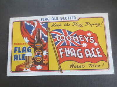 1 only 1960,s issue TOOHEYS  FLAG ALE  / BLOTTER COASTER Very rare,Mint cond.