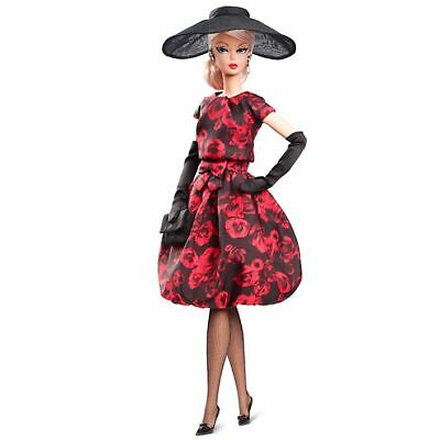 NIB Barbie Elegant Rose Cocktail Dress Doll Fashion Model Collection Signature