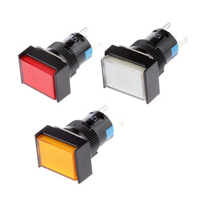 3Pcs 16mm Off-On Push Button Waterproof Momentary Switch SPDT