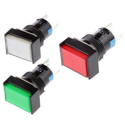 3Pcs 16mm Off(On) Push Button Waterproof Momentary Switch SPDT