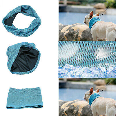 Instant Cooling Dog Collar Summer Chill Ice Scarf Bandana Neck Towel Wrap S M L