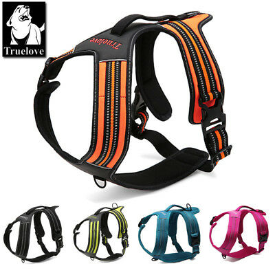 Truelove Pet Dog Puppy Harness Adjustable 3M Reflective Padded 5 Sizes 5 Colours