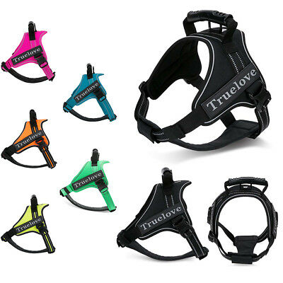 Truelove Upgrade K9 Dog Harness No Pull Adjustable High-vis 3M Reflective Padded