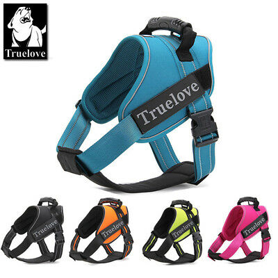 Truelove K9 Dog Puppy Harness Adjustable 3M Reflective Padded 6 Sizes 5 Colours
