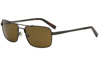 1bd8ed79a1 Nautica Men s N5098S N 5098 S 213 Brushed Brown Pilot Polarized Sunglasses  58mm