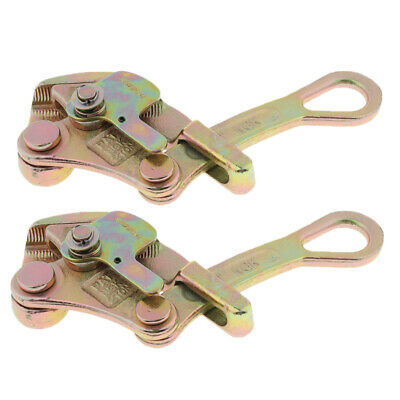 2x Max. Load 2 tons Cable Wire Rope Grip Insulated Wire Grip Clamp Tensioner