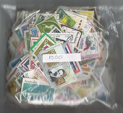 Collection of 1000 Different Worldwide stamps  Very Nice Selection