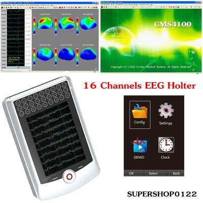 16 channels EEG holter 24-hour carrying record EEG signal clipping+ software CD