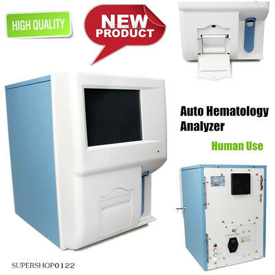 Auto hematology analyzer Blood analyzer color touch screen+printer WBC RBC PLT