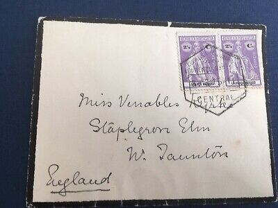Postal History Portuguese East Africa 1915 Mourning Cover Lourenco Marques to UK