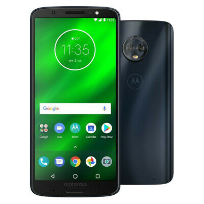 Motorola Moto G 6th Generation - 32GB - Black (Unlocked) Smartphone - Very Good