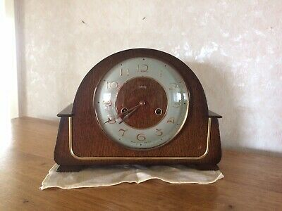 Authentic Vintage Smiths Art Deco Style 8 Day Mantel Clock
