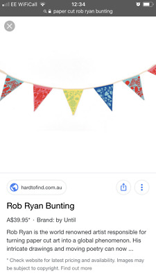 Rob Ryan 16 flag fabric bunting famous paper cutter