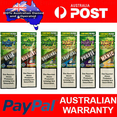 Juicy Jay Hemp Wraps Rolling Paper Cigarette Flavoured Tip Blunts Cone Smoke