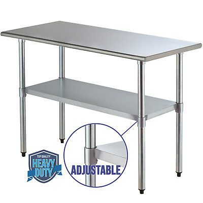 """24""""x48"""" Work Table Food Prep Commercial Stainless Steel Kitchen Restaurant"""