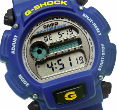 Casio DW9052-2V G-Shock Blue Grey Digital Dial Resin Band Men Watch New