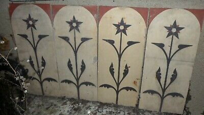 4 Grands Carreaux Carrelage Art Deco Terre Cuite