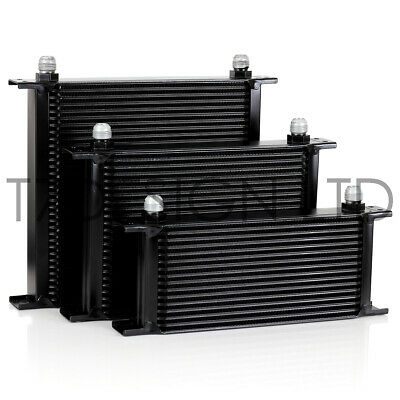 T7DESIGN Oil Cooler 235mm 25 Row AN10 JIC - Black Alloy, Race, Rally, Kit Car