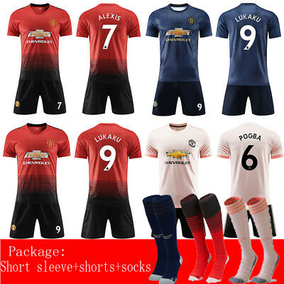 b00a42c09 2018-2019 Football Kits Soccer Jerseys Shirts Training Suits For Kids  Adults SML