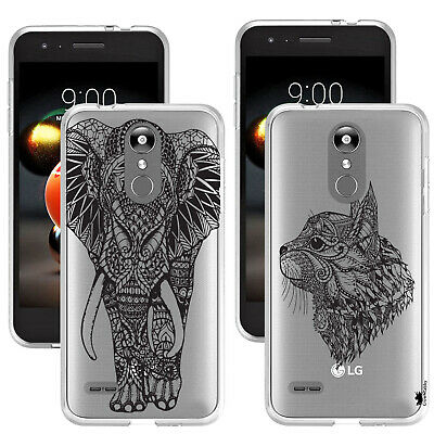 For LG K8 2018 -  Stylish Printed Animal Design Gel Case Cover Silicone Back NEW