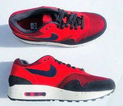 outlet store 784ec 56b3a Nike Air Max 1 Shoes AH8145-600 Red Crush Navy Blue Sail White Men s Size