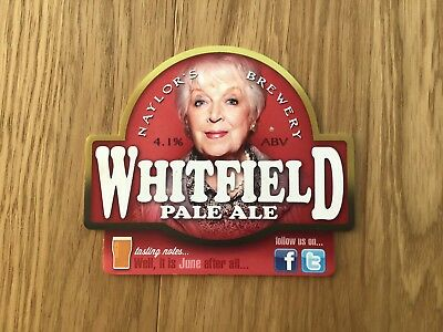 Naylors June Whitfield Beer Pump Clip