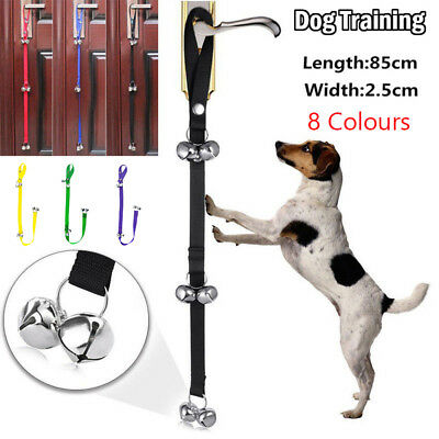 Pet Small Dog Meal Feeding Calling Bells Puppy Metal Potty Toilet Training Bell