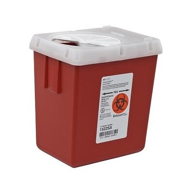 10 PACK! Covidien 2.2 Quart Sharps Collector Biohazard Container Box Tattoo Home