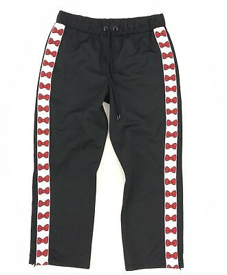 67c17af90 ASOS X HELLO KITTY Black Bow Tape Detail Zipped Ankle Track Pant Joggers,  UK 12