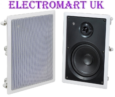 Flush In Wall Hi-Fi Speakers Loudspeakers System X 2 (1 Pair) 120W