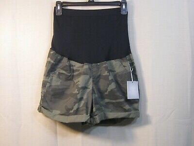 NWT a:glow Green Camo Camouflage Maternity Shorts Style WM81X008RP