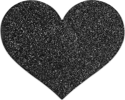 copricapezzoli Bijoux Indiscrets Flash Heart - nero