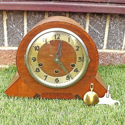 Vintage Westminster Chime Art Deco Mantle Clock - Currently Working Order