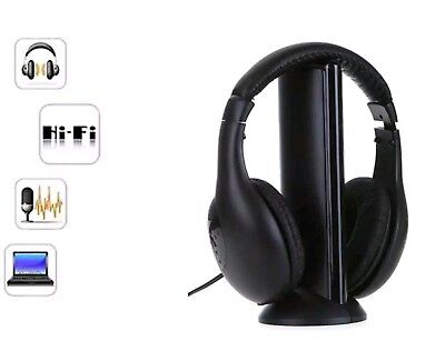 CUFFIE STEREO SENZA Fili Wireless 5 IN 1 Cuffia per Tv Pc Mp3 - EUR ... e458158055db