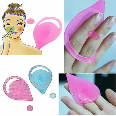 Facial Skin Care Cleansing Silicones Gel Soft Pad Face Blackheads Remover Brush