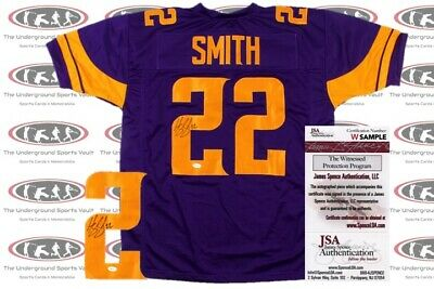 568d4c4d581 Harrison Smith Signed Custom Pro Style Jersey JSA Witnessed Vikings