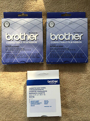 2 Brother Correctable Film Ribbons #1030 and Cassette daisy wheel/Prestige
