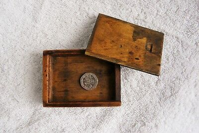 small wooden box sliding lid vintage treen handmade