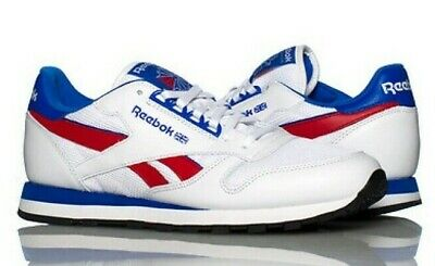 Reebok Classic Leather # M42209 White Red Blue Men SZ 11, 11.5