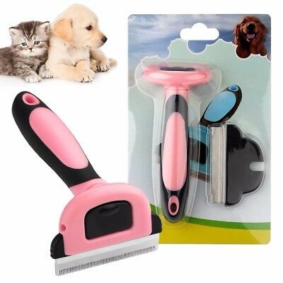 Pet Grooming Brush & Deshedding Tool, Slicker Comb For All Dogs, Cats & Horses