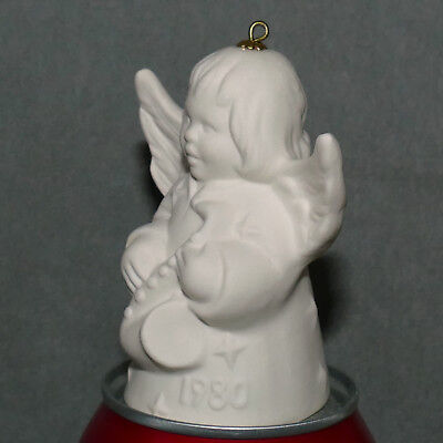 Christmas Figurine Ceramic Angel GOEBEL Bell Germany 1980 Miniature Saxophone 3""