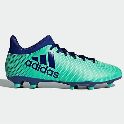 cb5f6902496 adidas X 17.3 FG Firm Ground Football Boots Mens Green Ink Soccer Shoes  Cleats
