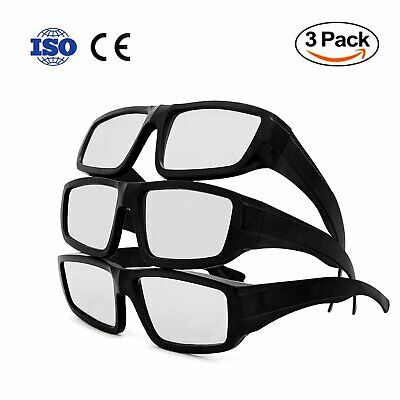 Plastic Solar Eclipse Glasses, HBlife Adult Size CE and ISO Certified Safe Ecl..