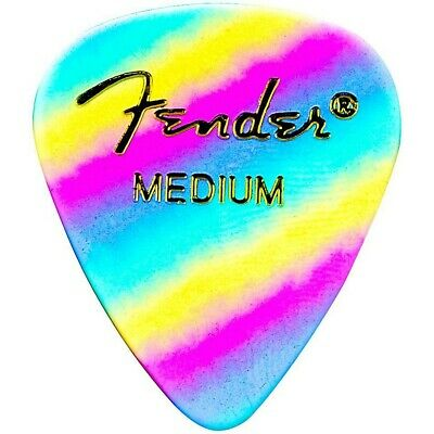 Fender 351 Shape Premium Picks Thin Rainbow Celluloid - 12-pack Medium 12 Pack
