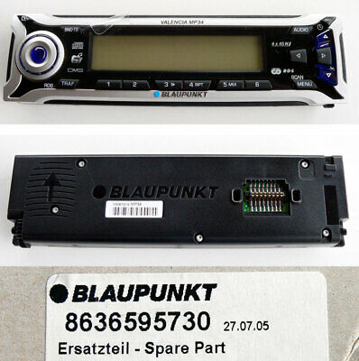 Original Blaupunkt Car Radio 8636595730 Bedienteil VALENCIA MP34 - NEU