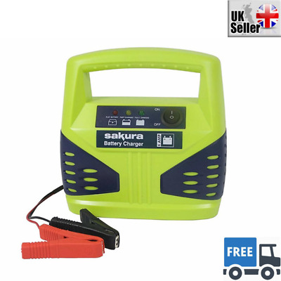 Car Automotive Battery Charger Booster 6 Amp Compact Portable Jump Starter Power