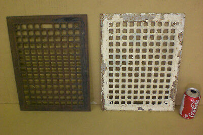 Pair Of Victorian Register Floor Wall Grate Vent Cover Industrial Age Antique