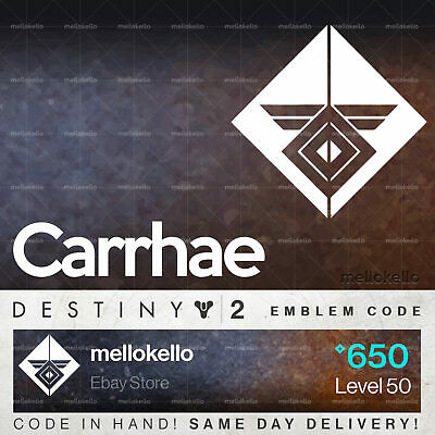 Destiny 2 Carrhae emblem IN HAND!! SAME DAY DELIVERY!!!